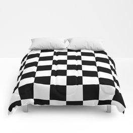 Check (Black & White Pattern) Comforters