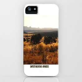 Sawtooth Mountains - New Mexico iPhone Case