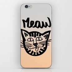 CAT MEAW FACE iPhone & iPod Skin