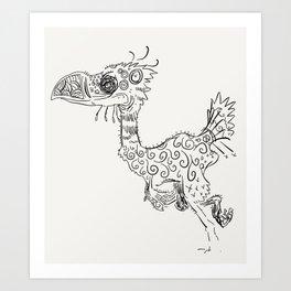 Terror Bird Art Print