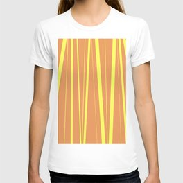 Orange And Yellow Stripes - Abstract Sunshine T-shirt