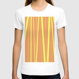 Orange And Yellow Stripes - Abstract Sunshine T-shirt