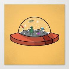 alien snow globe Canvas Print