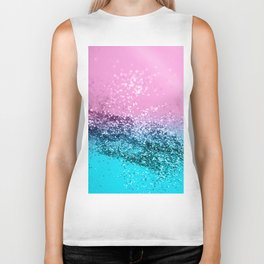 Tropical Beach Lady Glitter #1 #shiny #decor #art #society6 Biker Tank