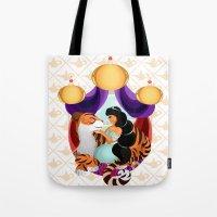 jasmine Tote Bags featuring Jasmine by Karrashi
