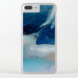 DEEP - Resin painting Clear iPhone Case