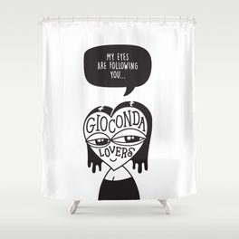 Gioconda Lovers Shower Curtain