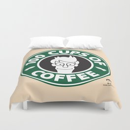 100 Cups of Coffee Duvet Cover