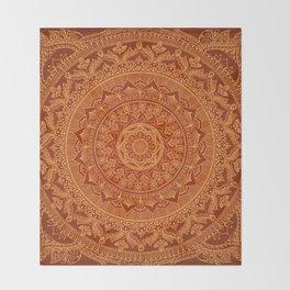 Mandala Spice Throw Blanket