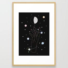 Spotlight - Moon Phase Illustration Framed Art Print