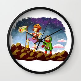 Etienne & Phil - Partons à l'aventure Wall Clock