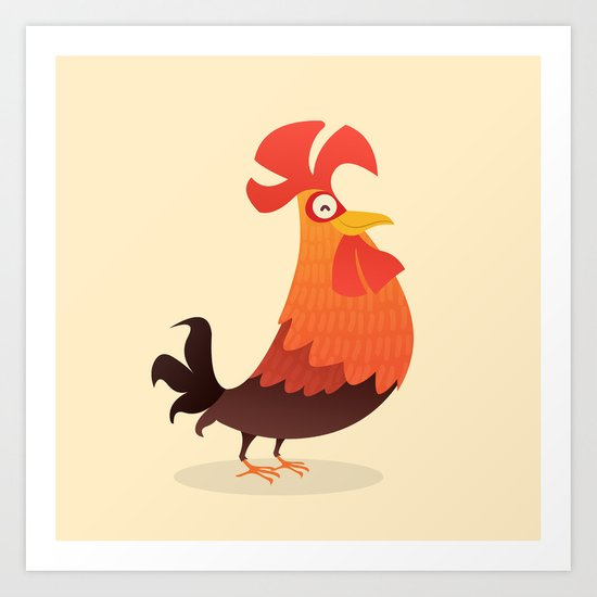 It's Time, Rooster! Art Print
