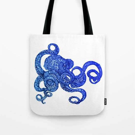 Ombre Octopus Tote Bag