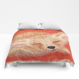 Sleeping desert fox/fennec watercolor Comforters