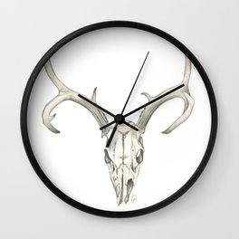 Like a Mirror, Reflecting Bones Wall Clock