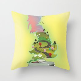 United Kingdom ' By Road' Throw Pillow