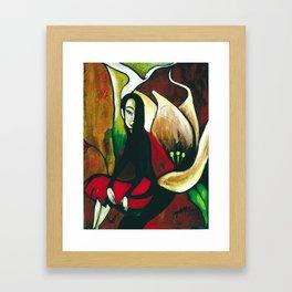 Lily and Her Poppy Framed Art Print