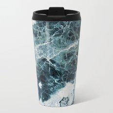 Blue Sea Marble Metal Travel Mug