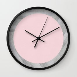 Fashion and pink marble Wall Clock