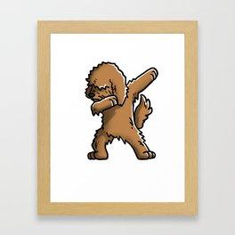Funny Goldendoodle Dabbing Framed Art Print