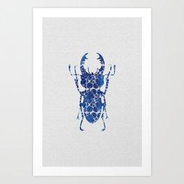 Blue Beetle III Art Print