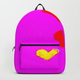 Red and Pink Falling Hearts Backpack