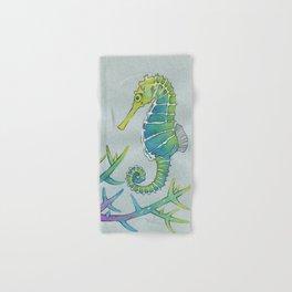 Neon Seahorse Hand & Bath Towel