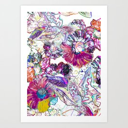 Line Flower Art Print