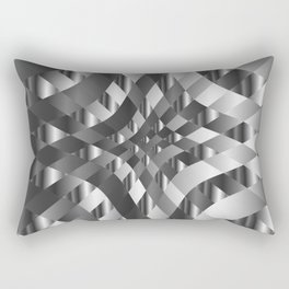 Silver metal background chrome texture Rectangular Pillow
