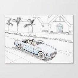 The car in Santa Barbara Canvas Print