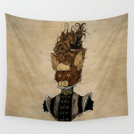 High-Class Victorian Cat Wall Tapestry