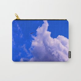 """Clouds #73"" Photo with poem: Love Is #4 Carry-All Pouch"