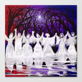 Midnight Prayers for the Living Sisters Canvas Print