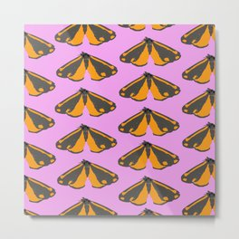 Moth Pop Pink Metal Print
