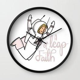 A leap of faith Wall Clock