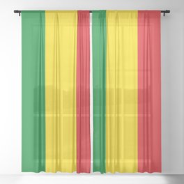 Flag of Ethiopia Ethiopian Rastafarian Flag Sheer Curtain