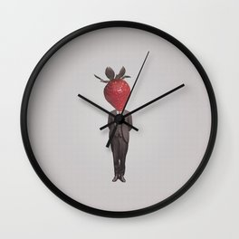 Strawberry Mugshot Wall Clock