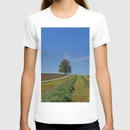 Relaxing in a field T-shirt