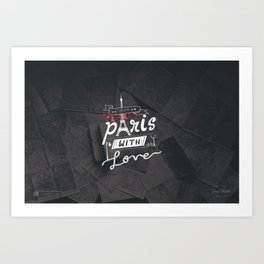 From Paris With Love | Typographic Art Print