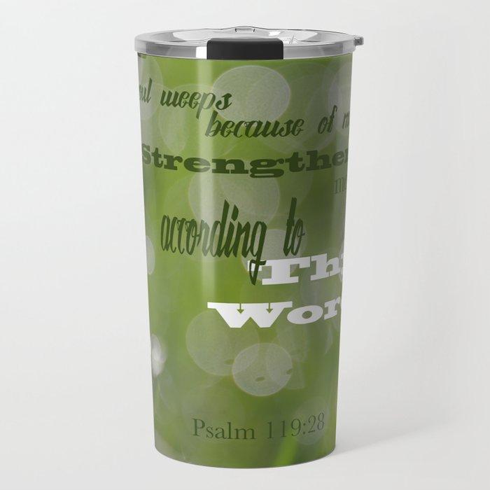 Psalm 119 Tears Travel Mug