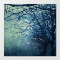 silent Canvas Prints featuring Silent Night  by Laura Ruth
