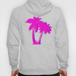 Vaporwave Palm Tree Gift Aesthetic Style Pink Palm Hoody