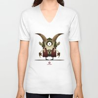 capricorn V-neck T-shirts featuring CAPRICORN by Angelo Cerantola