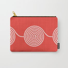 Yacht style. Rope spirals. Red. Carry-All Pouch