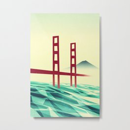 Misty day at the Golden Gate Metal Print