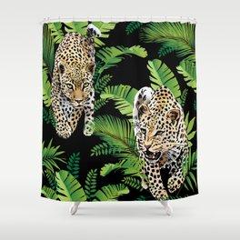 Leopard jungle pattern Shower Curtain