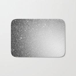 Galaxy Stars Ombre : Black Slate Gray Bath Mat