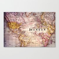 wander Canvas Prints featuring wander by Sylvia Cook Photography