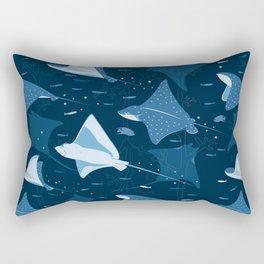 Blue stingrays pattern Rectangular Pillow