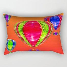 Balloons in front of evening sky ... Rectangular Pillow